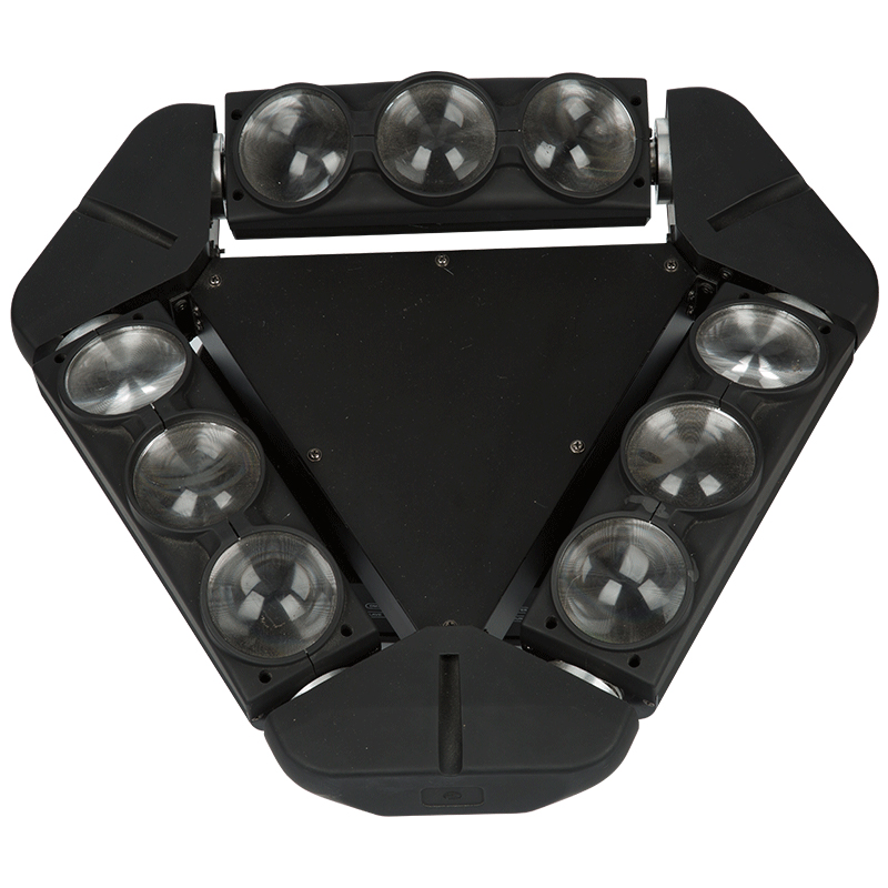 KZ-W910 LED9 eyes RGBW 4 in 1 moving head spider beam lights